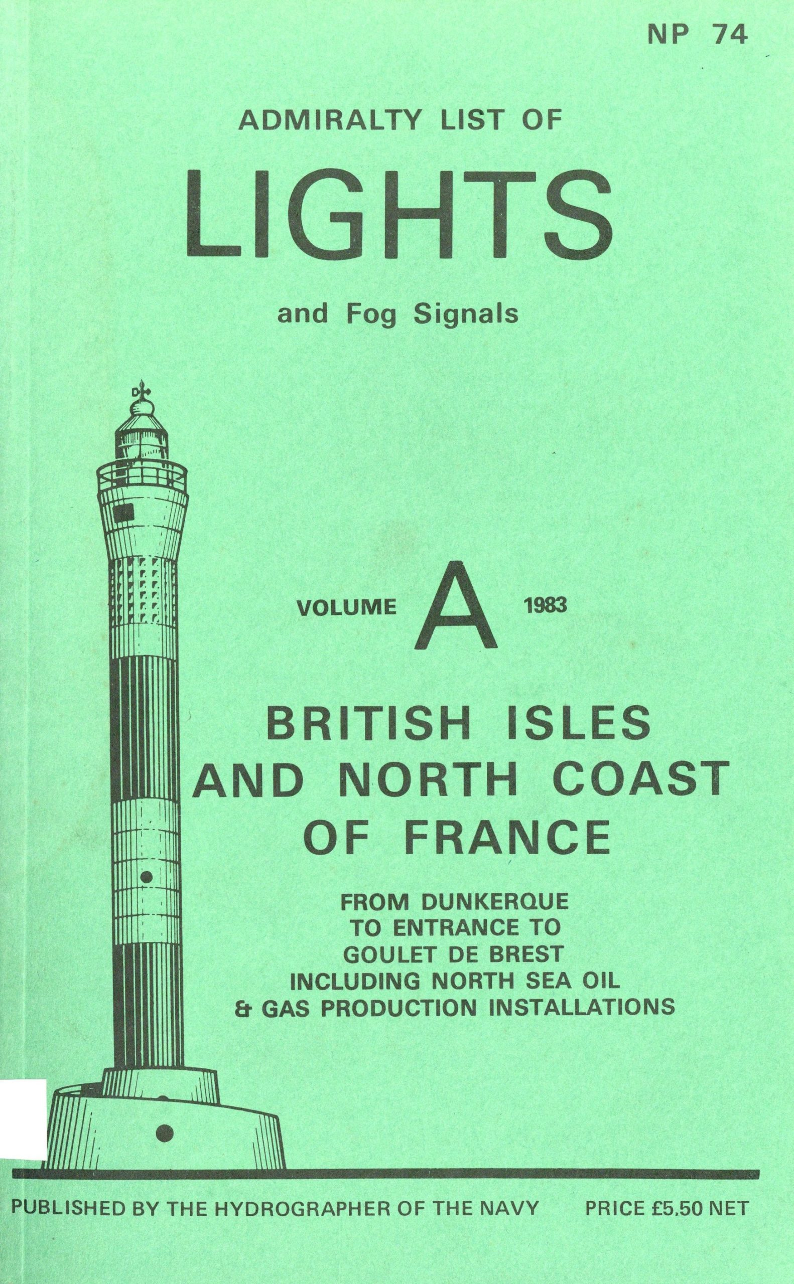 Admiralty list of lights and fog signals – vol. A – 1983