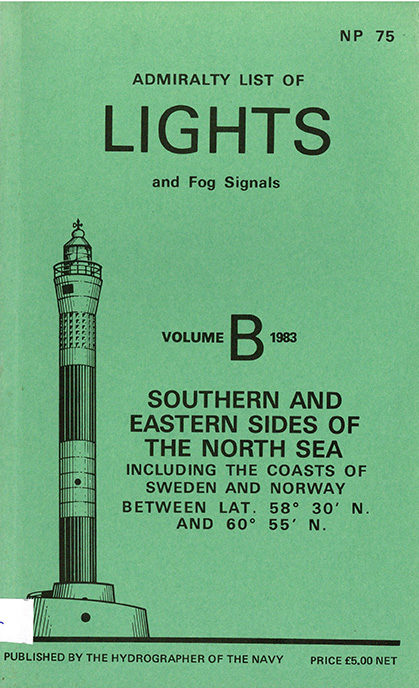 Admiralty list of lights and fog signals – vol. B – 1983