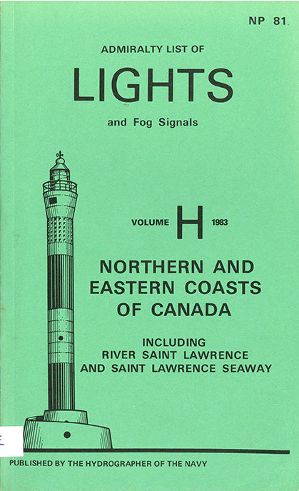Admiralty list of lights and fog signals – vol. H – 1983