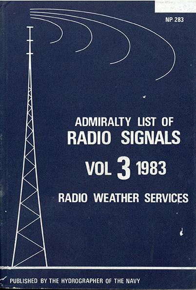Admiralty list of Radio Signals vol. 3