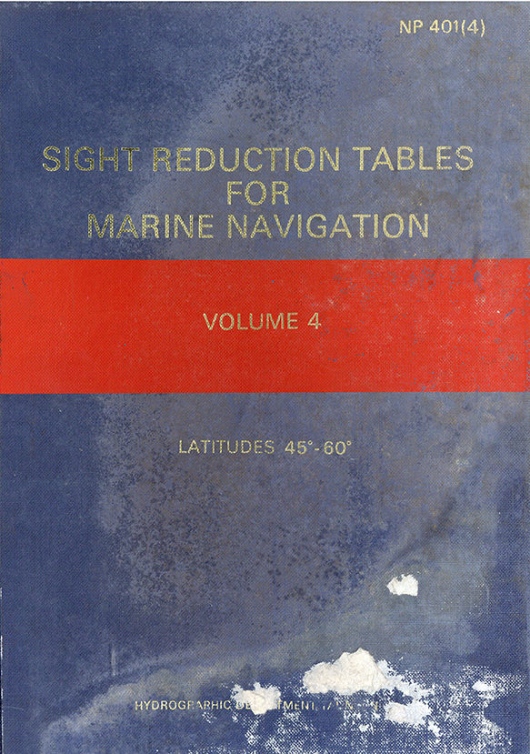 Sight Reduction Tables for Marine Navigation – vol. 4