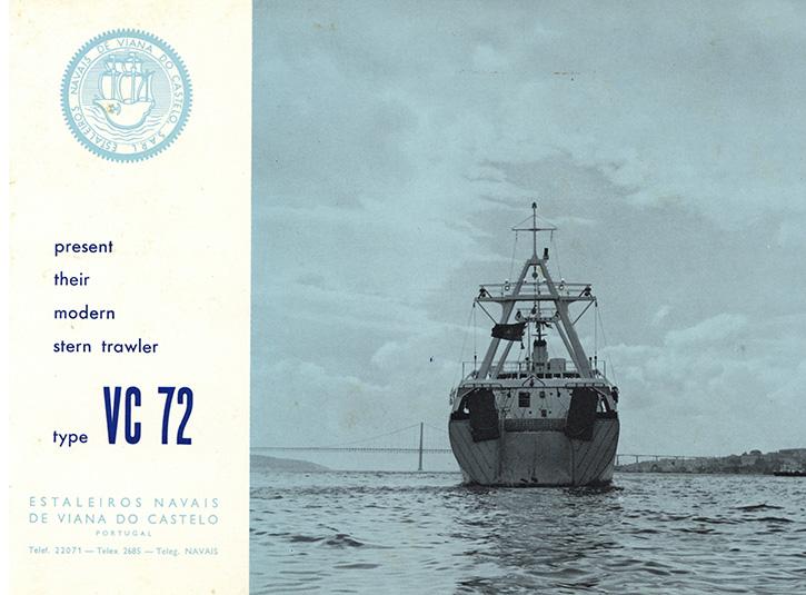 Estaleiros Navais de Viana do Castelo present their stern trawler type VC 72