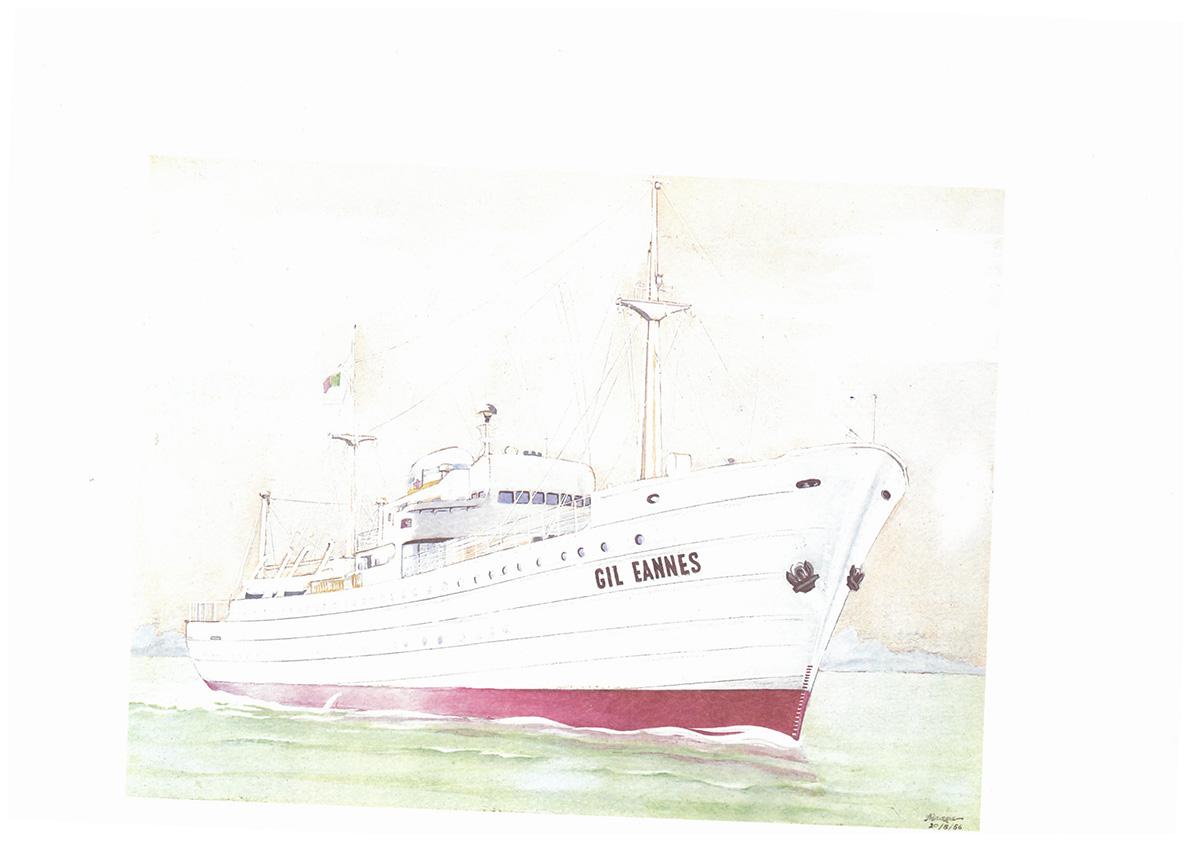 Ilustração do navio Gil Eannes