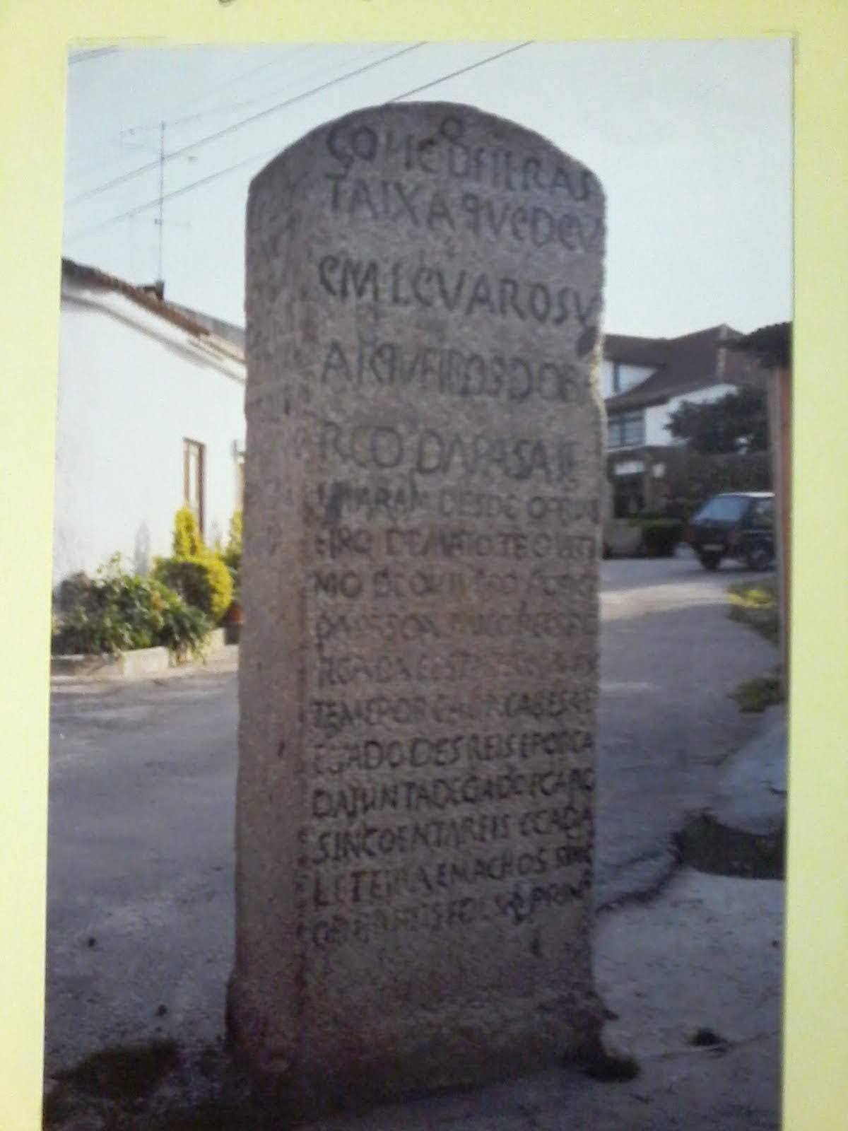 Inscrições gravadas na pedra em terras de Arga e Lima