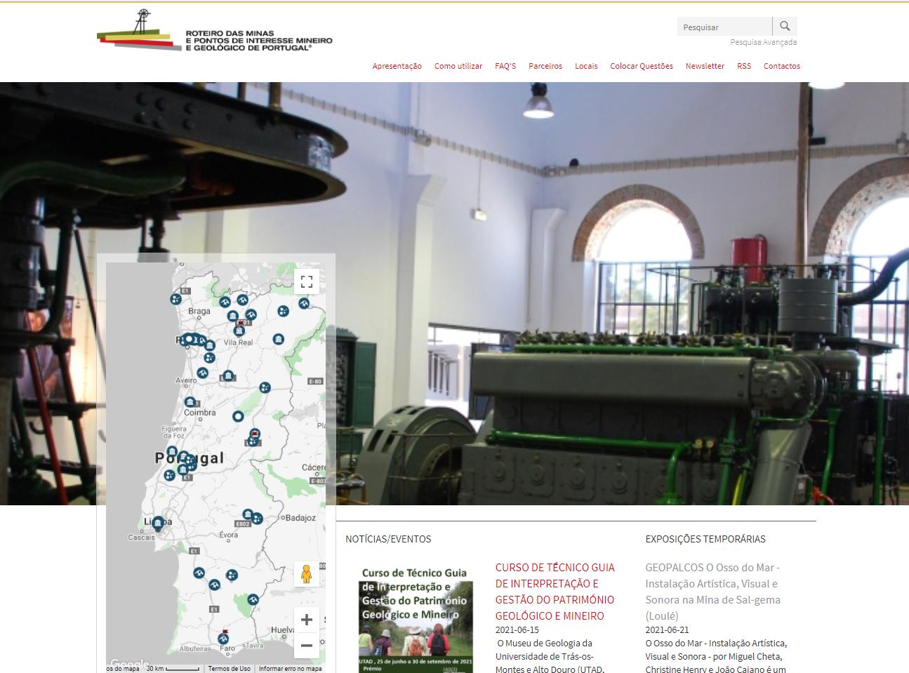 Roteiro das Minas e Pontos de Interesse Mineiro e Geológico de Portugal
